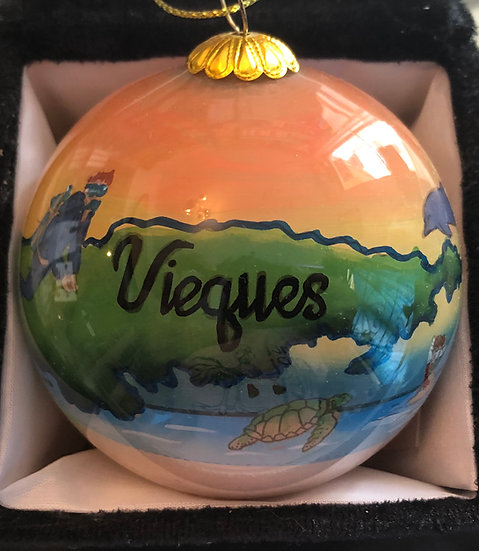 Vieques Christmas Ornament