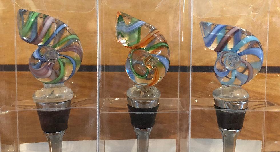 Handmade Glass Wine Bottle Stopper