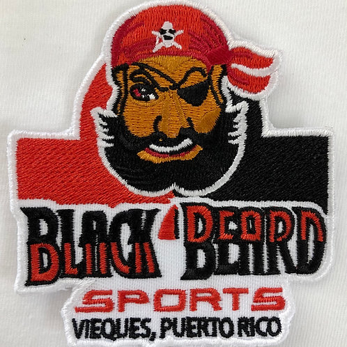 Black Beard Sports Embroidered Patch