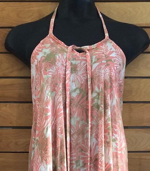 Tangerine Temple Halter Summer Dress