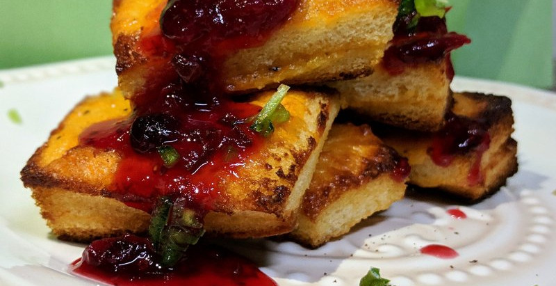 Easy-Cheesy Holiday Cheese Straw Sammies with Cranberry Pepper Jelly