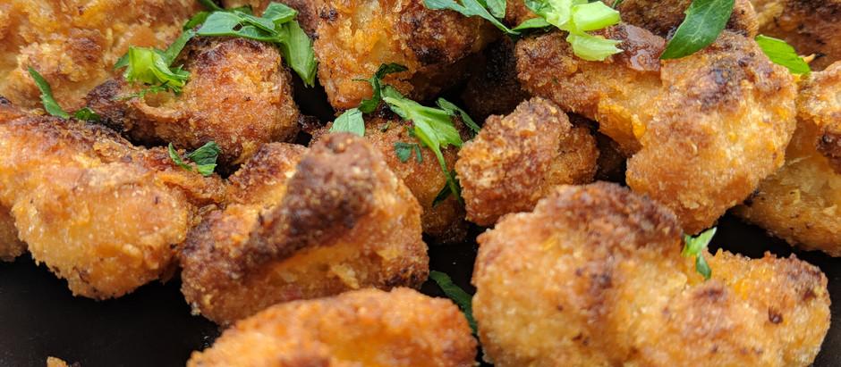 Crunchy Buffalo Cauliflower Bites