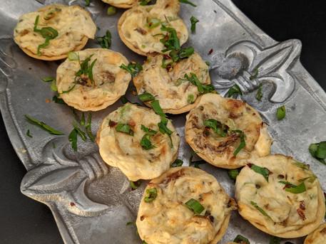 Crab and Parmesan Mini Pies