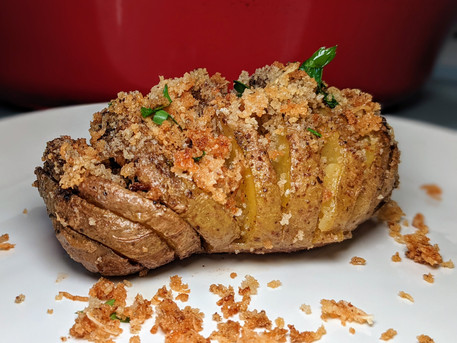 Potatoes Hasselback: Butter-Bathed Potatoes and Crunchy Bread Crumbs