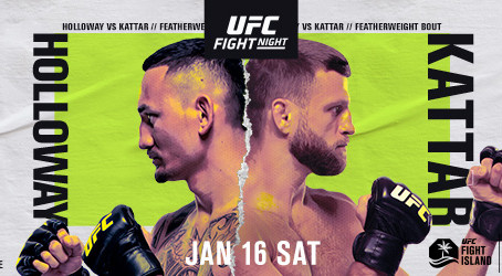 UFC® FIGHT NIGHT: HOLLOWAY vs. KATTAR TO AIR LIVE ON ABC THIS SATURDAY, JANUARY 16
