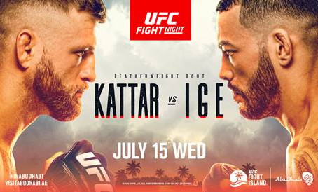 ACTION CONTINUES ON UFC FIGHT ISLAND JULY 15, TOP FEATHERWEIGHT CONTENDERS  LOOK TO MAKE A STATEMENT