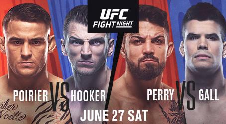 UFC FIGHT NIGHT ON ESPN®: POIRIER vs. HOOKER SET TO DELIVER FIREWORKS IN JUNE 27 MAIN EVENT
