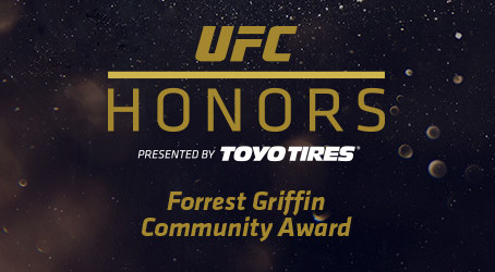 UFC ANNOUNCES INAUGURAL FORREST GRIFFIN COMMUNITY AWARD