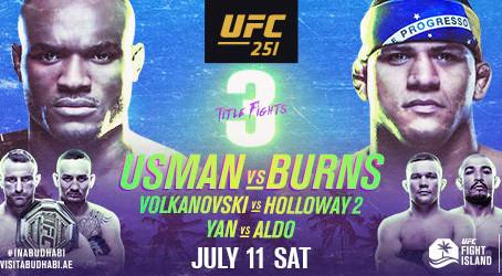 UFC® KICKS OFF EVENTS ON UFC FIGHT ISLAND WITH THREE THRILLING WORLD CHAMPIONSHIP FIGHTS