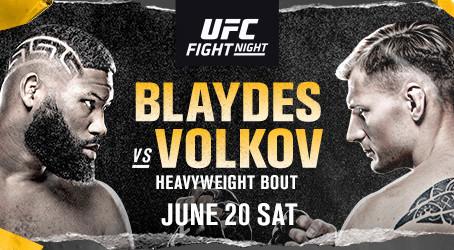 HEAVYWEIGHT CONTENDERS (#3) CURTIS BLAYDES AND (#7) ALEXANDER VOLKOV HEADLINES JUNE 20 EVENT AT UFC®
