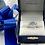 Thumbnail: 14K White Gold Blue Topaz Diamond Ring