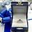 Thumbnail: 14K White Gold Sapphire and Diamond Semi Mount