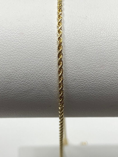 "14K Yellow Gold 1.5mm 18"" DC Rope Chain"