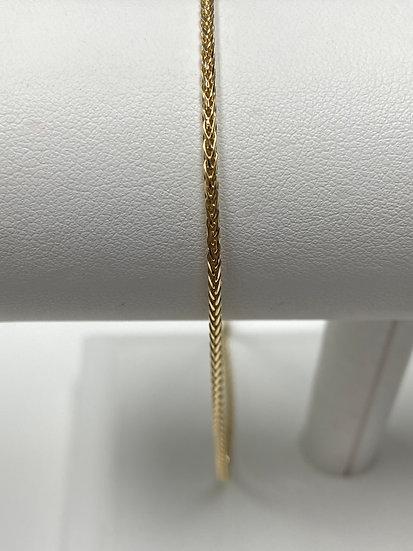 "14K Yellow Gold 20"" Wheat Chain"