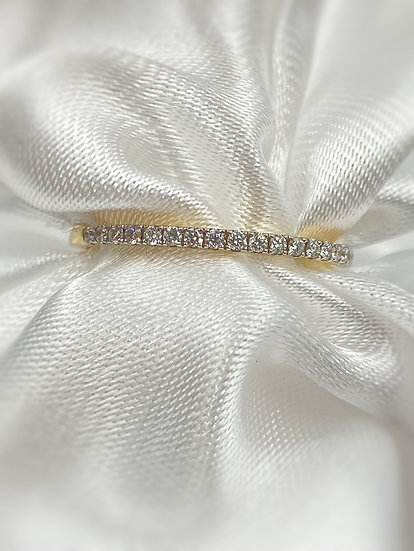 14K Yellow Gold .15cttw Diamond Stackable