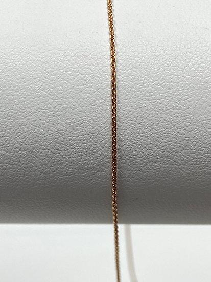 14K White Gold Adjustable Chain