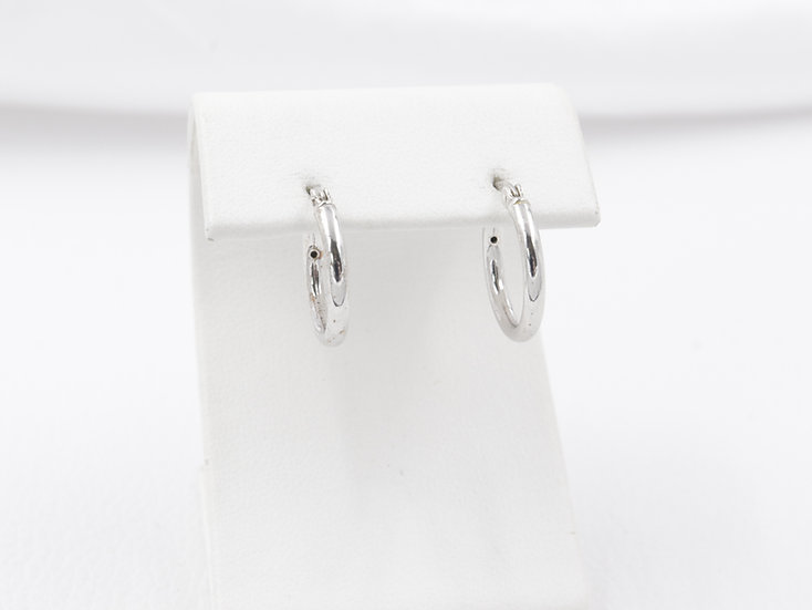 Sterling Silver Medium Small Hoop Earrings