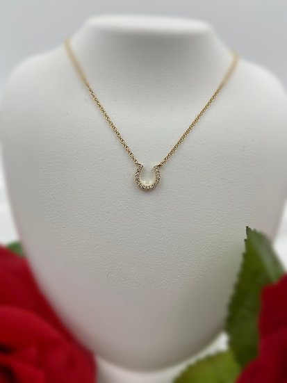 "14K Yellow Gold .06cttw 18"" Diamond Necklace"