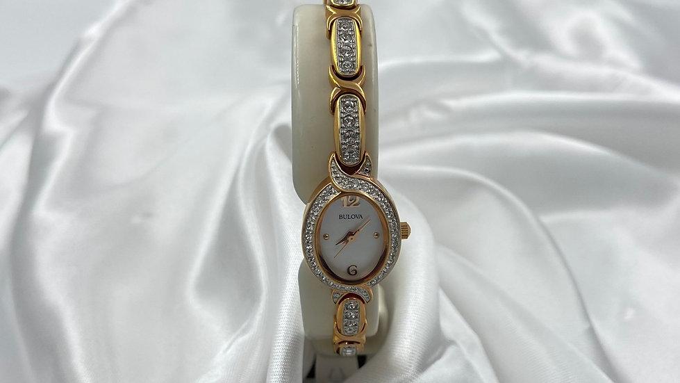Bulova Women's Curved Crystal Watch