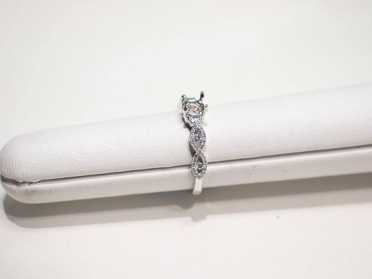 14K White Gold .23cttw Diamond Semi Mounting