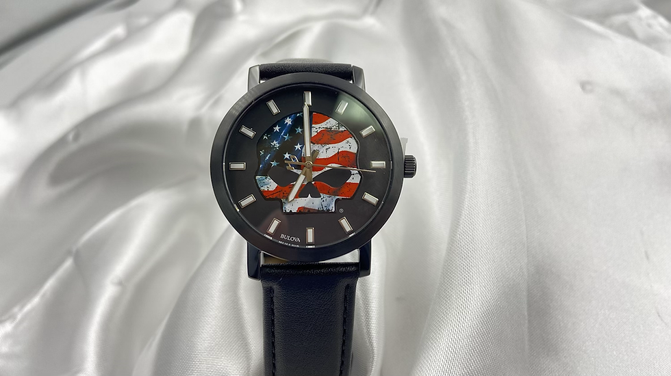 Mens Harley Davidson Red White and Blue Watch