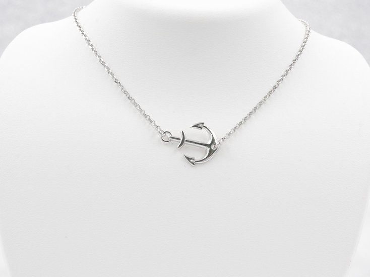 Sterling Silver Anchor Pendant Chain