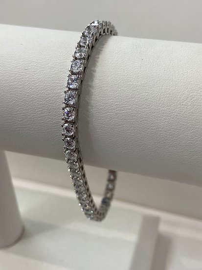 14K White Gold 7.0cttw Round Brilliant Diamond Tennis Bracelet