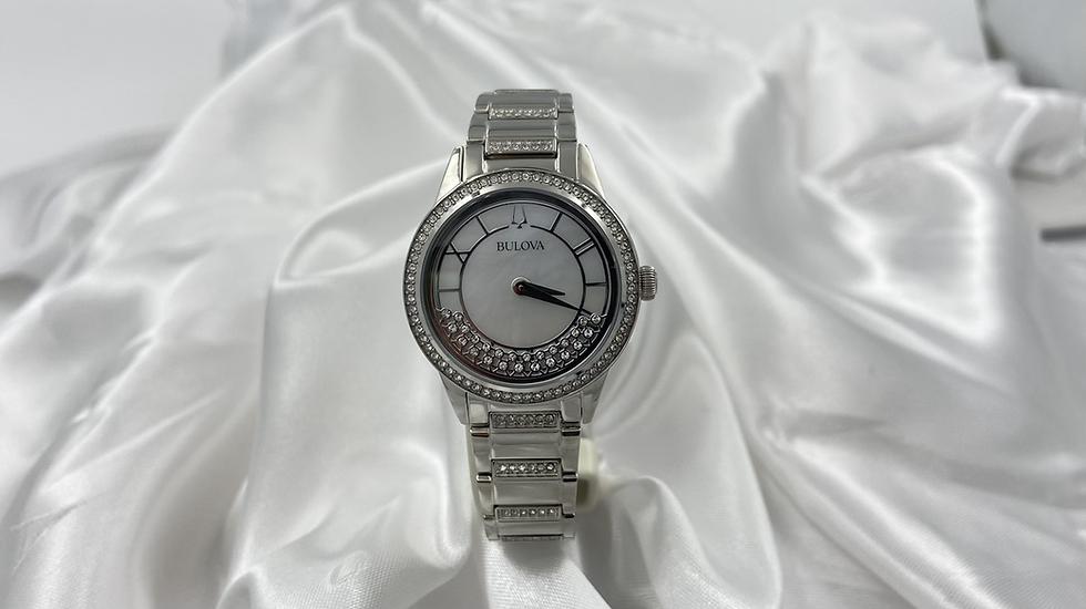 Bulova Womens Diamond Bezel Watch
