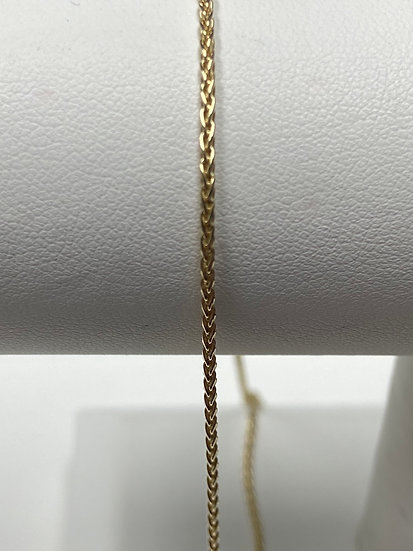"14K Yellow Gold 1.5mm 18"" Parisian Wheat Chain"