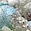 Thumbnail: Sterling Silver Aqua Diamond Ring