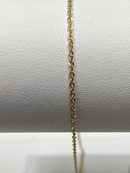 "14K Yellow Gold 16"" 1mm Diamond Cut Twisted Rolo"