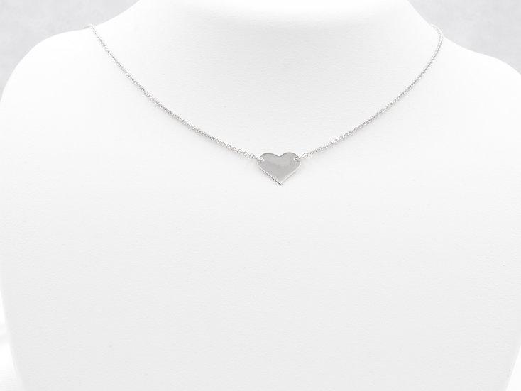 "Sterling Silver 18"" Heart Pendant"