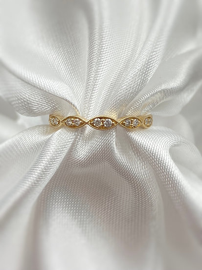 10K Yellow Gold .17cttw Round Diamond Stackable