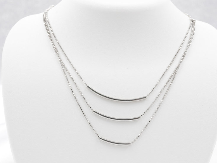 Three Bar Sterling Silver Necklace