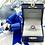 Thumbnail: 18K White Gold Round Diamond Sapphire Semi Mount