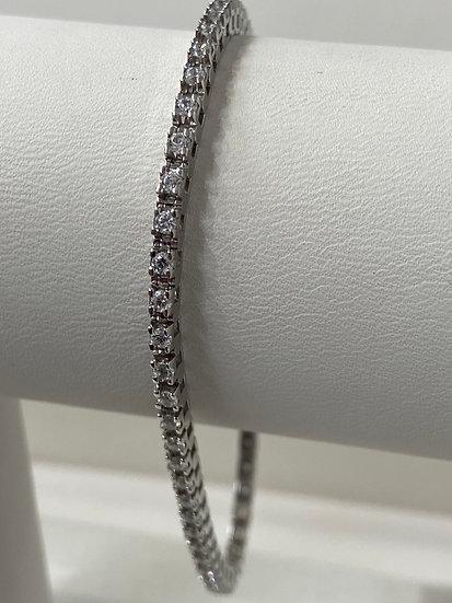 14K White Gold 2.25cttw Round Brilliant Diamond Tennis Bracelet