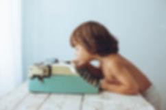 Boy with Type Machine