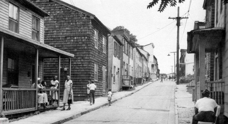 Larkin street before and during urban re