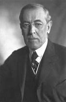 Woodrow Wilson, an American politician