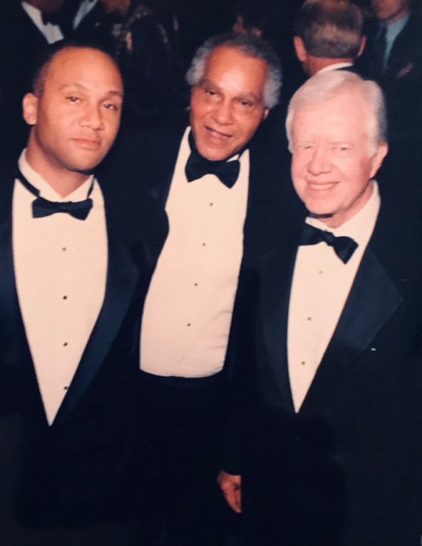Adam P. Kennedy with Dr. Joseph Kennedy and President Jimmy Carter