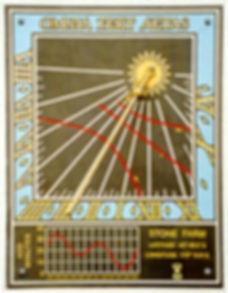 vertical sundial slate