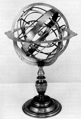 ancient armillary sphere sundial