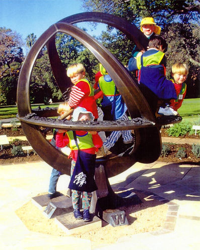 bronze lost-wax armillary sphere sundial