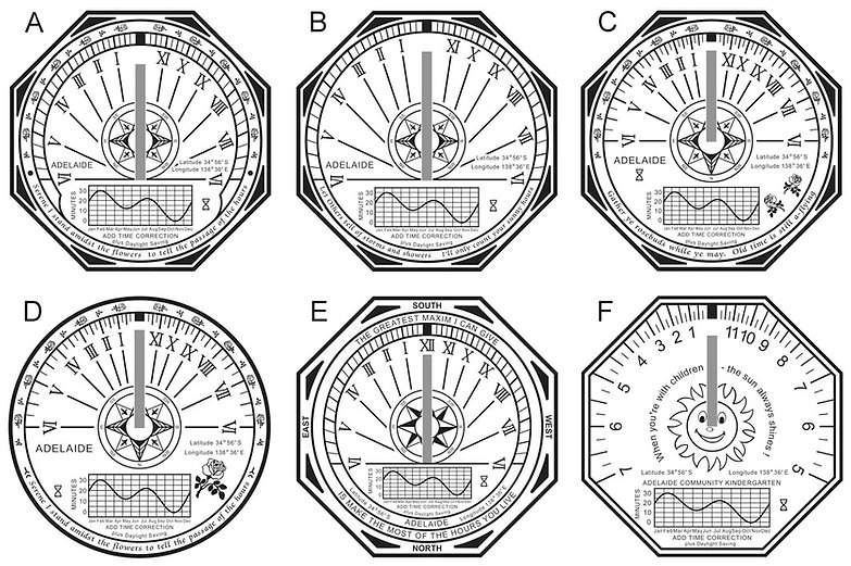 horizontal sundial designs 1