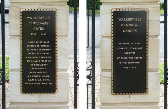 large bronze commemorative plaques