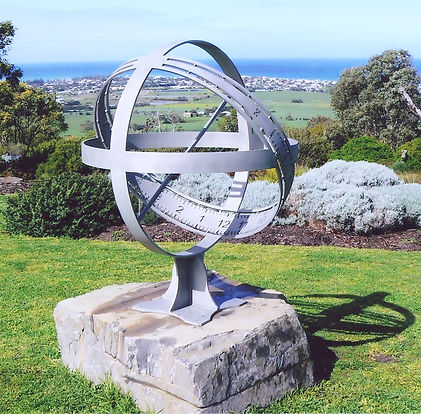steel armillary sphere sundial