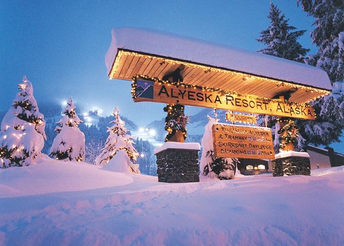 Alyeska Resort Entrance Winter - Duane W