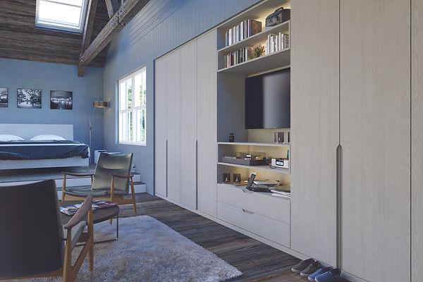 Bella Integra Oakgrain Grey Bedroom upda