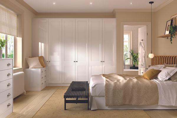 Bella Richmond High Gloss White Bedroom.