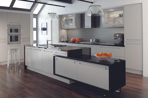 Matt Dove Grey Venice Kitchen with Inset
